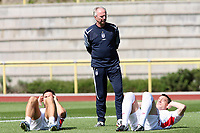 Photo: Chris Ratcliffe.<br />England training session. 07/06/2006.<br />Sven Goran Eriksson watches on as Frank Lampard and John Terry warm up in training.
