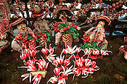 MEXICO, OAXACA, FESTIVALS Radish Festival display