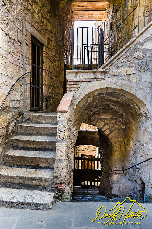 Stairways Pitilgiano Italy.  The lines, curves and textures of ancient Europe beg to be captured, I'm glad this old city is having an ancient/urban rebirth and re-occupation as it was once nearly a ghost town of the past.  Residents and tourists can now keep it going for awhile.