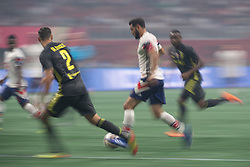 August 1, 2018 - Atlanta, Georgia, United States - MLS All-Star midfielder DIEGO VALERI dibbles the ball against Juventus defender MATTIA DE SCIGLIO, 2 during the 2018 MLS All-Star Game at Mercedes-Benz Stadium in Atlanta, Georgia.  Juventus F.C. defeats  MLS All-Stars defeat  1 to 1  (Credit Image: © Mark Smith via ZUMA Wire)