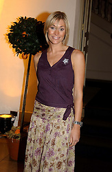 GMTV presenter JENNY FALCONER<br /><br />at a party to celebrate the 10th anniversary of Jo Malone the perfumer held at The Banquetting House, Whitehall, London on 21st October 2004.<br /><br /><br /><br />NON EXCLUSIVE - WORLD RIGHTS