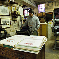 Gianni Basso is one of the oldest and most reliable printers in Venice. From visiting cards to personal diaries - it takes orders for all types of printing. It also has a handset custom printing facility and offers discounts to aspiring writers in the Cannaregio area. The company's credibility is endorsed by the fact that it has celebrity clients like Hugh Grant....***Agreed Fee's Apply To All Image Use***.Marco Secchi /Xianpix.tel +44 (0)207 1939846.tel +39 02 400 47313. e-mail sales@xianpix.com.www.marcosecchi.com