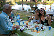 Wine and cheese with Dario Sattui, Yana and Faith before  the Napa Valley Festival del Sole, where Joyce Yang joined violinist Sarah Chang, cellist Nina Kotova, violist Katie Kadarauch and soprano Nino Machaidze in a chamber music program that included the Brahms Piano Quartet in C Minor, at Castello di Amorosa, Napa Valley winery castle built by Dario Sattui.