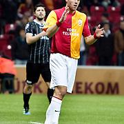 Galatasaray's Johan Elmander during their Turkish Super League soccer match Galatasaray between Manisaspor at the TT Arena at Seyrantepe in Istanbul Turkey on Wednesday, 21 December 2011. Photo by TURKPIX