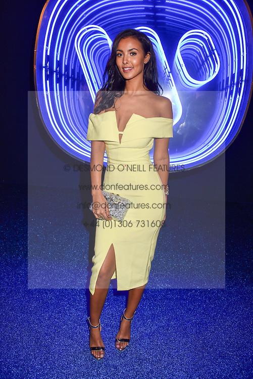 Maya Jama at the Warner Music & Ciroc Brit Awards party, Freemasons Hall, 60 Great Queen Street, London England. 22 February 2017.