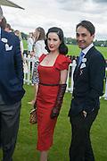 DITA VON TEESE; FRANCOIS LE TROQUER; , Cartier Queen's Cup. Guards Polo Club, Windsor Great Park. 17 June 2012