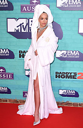 Rita Ora arriving at the MTV Europe Music Awards 2017 held at The SSE Arena, London. Photo credit should read: Doug Peters/EMPICS Entertainment