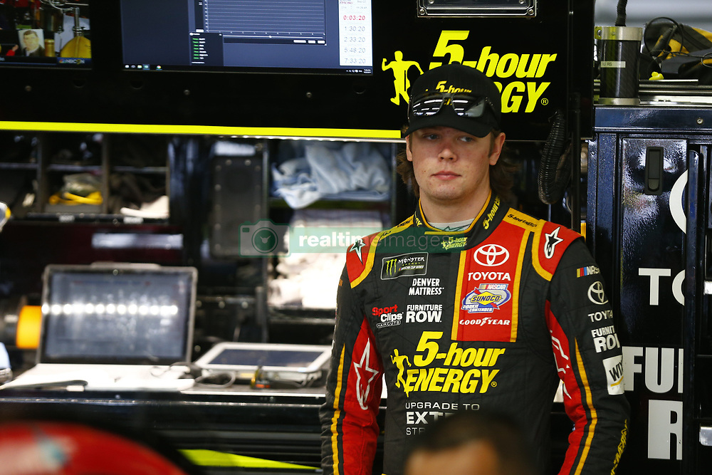 September 22, 2017 - Loudon, New Hampshire, United States of America - September 22, 2017 - Loudon, New Hampshire, USA: Erik Jones (77) hangs out in the garage during practice for the ISM Connect 300 at New Hampshire Motor Speedway in Loudon, New Hampshire. (Credit Image: © Justin R. Noe Asp Inc/ASP via ZUMA Wire)