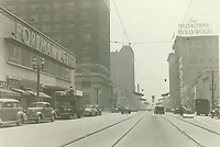 1941 Looking east at Hollywood Blvd. & Ivar St.