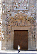 Iglesia de San Pablo church side entrance Valladolid spain castile and leon