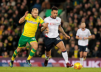 Norwich City's Teemu Pukki battles with Bolton Wanderers' Josh Magennis<br /> <br /> Photographer David Shipman/CameraSport<br /> <br /> The EFL Sky Bet Championship - Norwich City v Bolton Wanderers - Saturday 8th December 2018 - Carrow Road - Norwich<br /> <br /> World Copyright © 2018 CameraSport. All rights reserved. 43 Linden Ave. Countesthorpe. Leicester. England. LE8 5PG - Tel: +44 (0) 116 277 4147 - admin@camerasport.com - www.camerasport.com