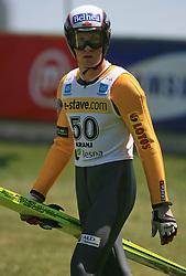Second Stefan Hula of Austria at FIS Continental cup Ski-jumping Summer Kranj, on July 6, 2008, Kranj, Slovenia. (Photo by Vid Ponikvar / Sportal Images)<br /> <br /> / Sportida)