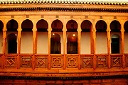 The Najariine Museum in Fes, Morocco was at one time an inn for workers from the countryside and now is a museum that is full of historical relics. This image is from the third level on Thursday afternoon, May 31, 2007.  (PHOTO BY TIMOTHY  D. BURDICK)