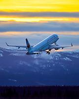 Sunrise departure from Erik Nielsen Whitehorse International Airport (CYXY)