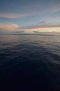Tutulia, American Samoa at sunset.