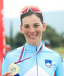 Winner Eugenia Bujak during Slovenian National Road Cycling Championships 2021, on June 20, 2021 in Koper / Capodistria, Slovenia. Photo by Vid Ponikvar / Sportida