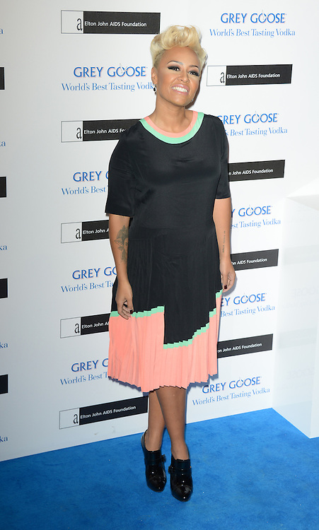 Emeli Sande attends the Grey Goose Winter Ball to benefit the Elton John Aids Foundation held at the Battersea Powerstation, London, UK. 10/11/2012 Anne-Marie Michel/CatchlightMedia