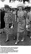 Lady Wimborne & Miss Samantha Barker at the Prix de Diane-Hermes. Chantilly. 14 June 1987. film 87463f20.jpg<br />© Copyright Photograph by Dafydd Jones<br />66 Stockwell Park Rd. London SW9 0DA<br />Tel 0171 733 0108