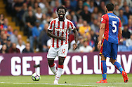 Wilfried Bony of Stoke City reacts after  losing the ball. Premier League match, Crystal Palace v Stoke city at Selhurst Park in London on Sunday 18th Sept 2016. pic by John Patrick Fletcher, Andrew Orchard sports photography.