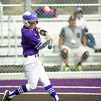 Miyamura's Lorenzo Dunsworth batting in the bottom of the fourth inning against Shiprock, Thursday, May 2 at Miyamura High School in Gallup.