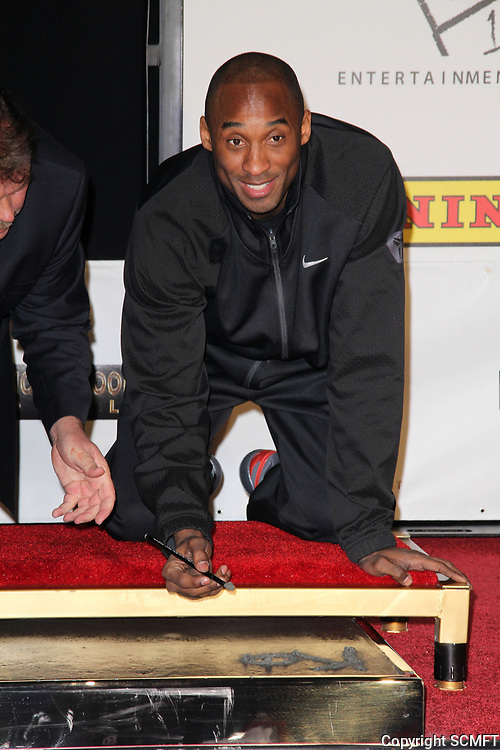2/19/2011 Kobe Bryant's hand/footprint ceremony at the Chinese Theater