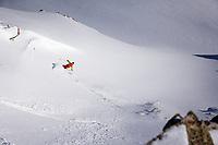 Christopher Smith skiing Lake Peak, Little Cottonwood Canyon, Wasatch Mountains, Utah, March 2014.