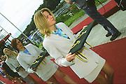 2002 FISA World Cup. Hazewinkel. BEL.       Friday  14/06/2002     .email images@Intersport-images.com.[Mandatory Credit: Peter Spurrier/Intersport Images]  .                                 /06/2002.Rowing. .Medal presentation Party. Rowing, FISA WC.Hazenwinkel, BEL