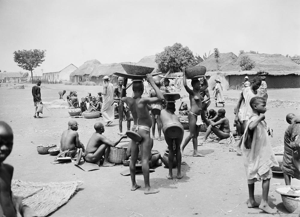 Pagan Women at Market, Nigeria, Africa, 1937