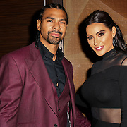 David Haye and Laura Zilli attends a dinner to raise funds for KIDS, a charity that supports disabled children, young people and their families at Riverbank Park Plaza on 24 November 2018, London, UK.