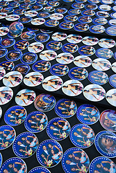 Barack Obama buttons at Presidential Inauguration of Barack Obama, Washington D.C., USA.