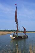 AREJRC Sailing barge Cygnet River Alde Snape Suffolk England