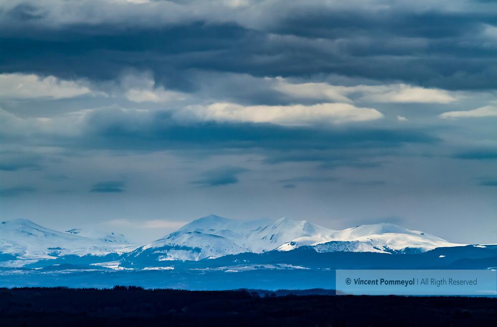 Mountain  of Sancy, Auvergne, France (High dynamic range imaging).