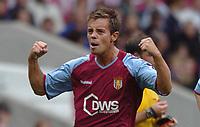 Credit: Back Page Images. Aston Villa v Crystal Palace, FA Premiership, 25/09/2004. Lee Hendrie celebrates scoring the 1st Aston Villa goal.