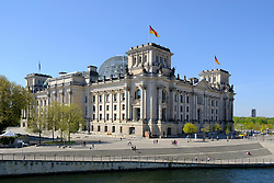 View of the Reichstag Parliament building in Berlin Germany