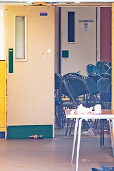 © Licensed to London News Pictures . 15/06/2019. Oldham , UK . Scene inside a Pakistani Community Centre in Glodwick , where a fight broke out during a boxing match last night (14th June 2019) . Photo credit : Joel Goodman/LNP