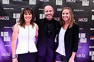 Rebecca Rusch, Nicholas Schrunk and attendees on the red carpet at the screening of Blood Road at the Bluebird Theater in Denver, CO, USA on 27 June, 2017.