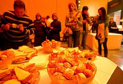 Pogostitev po okrogli mizi o izzivih slovenske kosarke na podrocju dela z mladimi, ki bodo v nekaj letih zastopali tudi barve slovenske vrhunske kosarke  v organizaciji drustva SportForum Slovenija, 4.  oktober 2010, Dvorana Mercurius, BTC, Ljubljana, Slovenija. (Photo by Vid Ponikvar / Sportida)