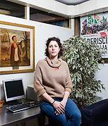 """Petra Taddei, 25 anni, studia Scienze Politiche, consigliera di circoscrizione quartiere 2 a Firenze. """"La sinistra di oggi non è più quella degli anni '70, in cui si divideva il mondo in buoni e cattivi. Il Pd esprime una sinistra meno radicata nel passato, più aperta all'ascolto. [...] La sfiducia giovani nei confronti della politica dipende in parte da un disinteresse generale e in parte dalla disillusione per le promesse non mantenute: l'insicurezza sul lavoro ci ha reso più apatici, meno propensi ad avere coraggio, forse anche sfrontatezza, insomma ad avere paura di metterci la faccia su certe cause"""". Vie Nuove, già sede PCI ora PD Firenze.   Petra Taddei, 25 years old, student of Political Science and councilwoman in one neighborhood in Florence. Vie Nuove historical party headquarter of Partito Comunista Italiano and now of Partito Democratico, Firenze."""