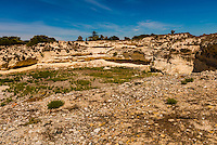 Lime quarry where Nelson Mandela broke rocks, Robben Island, where former President of South Africa Nelson Mandela was imprisoned for 18 of the 27 years he served behind bars before the fall of apartheid, it is now a museum. Robben Island is in Table Bay. Cape Town, South Africa.
