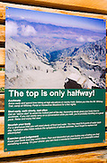 Interpretive sign at the start of the Mount Whitney Trail, John Muir Wilderness, California USA