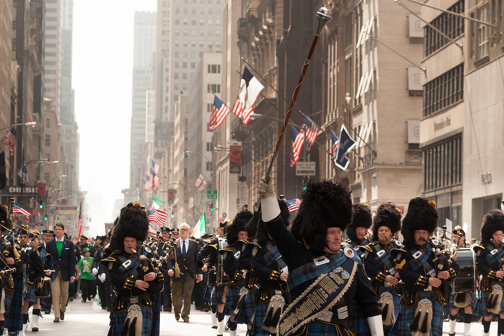 The pipe band from the Port Authority Police Emerald Society.