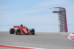 October 21, 2018 - Austin, TX, U.S. - AUSTIN, TX - OCTOBER 21: Ferrari driver Kimi Raikkonen (7) of Finland crests the peak with the tower in the background during the F1 United States Grand Prix on October 21, 2018, at Circuit of the Americas in Austin, TX. (Photo by Ken Murray/Icon Sportswire) (Credit Image: © Ken Murray/Icon SMI via ZUMA Press)