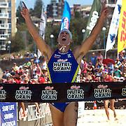 Shannon Eckstein winning the Men's Final during the Kellog's Nutri-Grain Iron Man series at Coogee Beach, Sydney, Australia on February 22, 2009.  Photo Tim Clayton