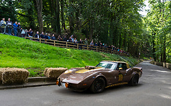 Boness Revival hillclimb motorsport event in Boness, Scotland, UK. The 2019 Bo'ness Revival Classic and Hillclimb, Scotland's first purpose-built motorsport venue, it marked 60 years since double Formula 1 World Champion Jim Clark competed here.  It took place Saturday 31 August and Sunday 1 September 2019. 78. Jon Beckett. Chevrolet Corvette.