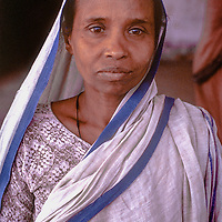 In Bangladesh's brutal 1971 war of independence from Pakistan, hundreds of thousands of women were widowed, left homeless and destitute including this once-middle class woman who six years later still lived at Mirupur Destitute Camp near Dhaka.  1977