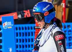 15.02.2021, Cortina, ITA, FIS Weltmeisterschaften Ski Alpin, Alpine Kombination, Damen, Super G, im Bild Petra Vlhova (SVK) // Petra Vlhova of Slovakia reacts after the Super G competition for the women's alpine combined of FIS Alpine Ski World Championships 2021 in Cortina, Italy on 2021/02/15. EXPA Pictures © 2021, PhotoCredit: EXPA/ Erich Spiess