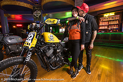 Angela and Mark Atkins of Rusty Butcher in the Rave Eagles Ballroom for the Mama Tried Show. Milwaukee, WI. USA. Saturday February 24, 2018. Photography ©2018 Michael Lichter.