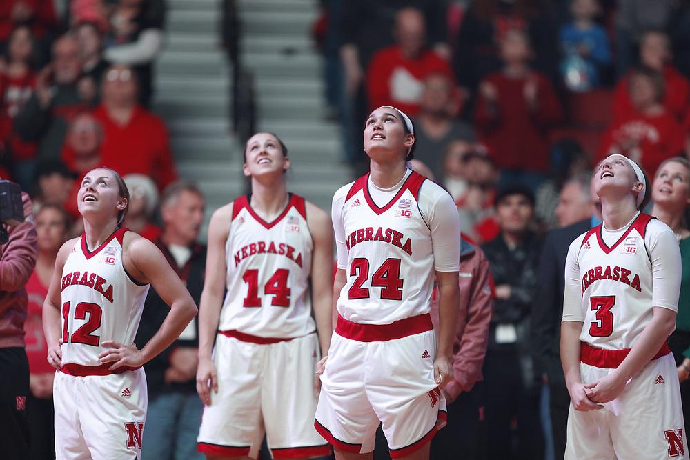 during Nebraska's 84-41 loss to No. 1-ranked UConn at Pinnacle Bank Arena in Lincoln, Neb. on Dec. 21, 2016. Photo by Aaron Babcock, Hail Varsity