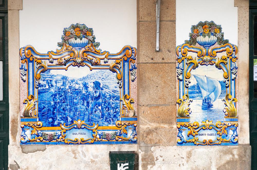 train station azulejos pinhao douro portugal