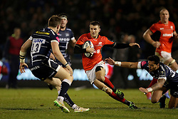 Saracens Richard Wigglesworth runs at Sale Sharks Sam James (left) during the European Champions Cup, pool three mach at the AJ Bell Stadium, Salford. PRESS ASSOCIATION Photo. Picture date: Sunday December 18, 2016. See PA story RUGBYU Sale. Photo credit should read: Richard Sellers/PA Wireduring the European Champions Cup, pool three mach at the AJ Bell Stadium, Salford. PRESS ASSOCIATION Photo. Picture date: Sunday December 18, 2016. See PA story RUGBYU Sale. Photo credit should read: Richard Sellers/PA Wire